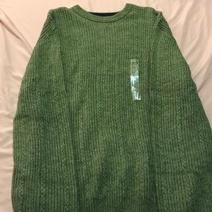 Olive Green Chaps Sweater